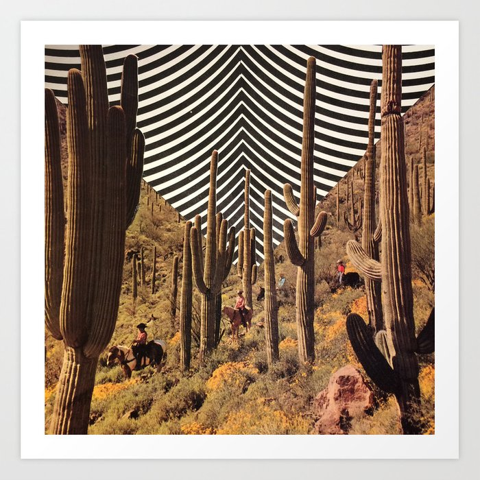 Pyschedelic desert Kunstdrucke
