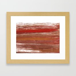 Chestnut abstract watercolor Framed Art Print