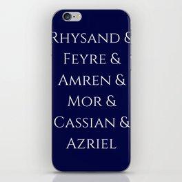 Rhysand Feyre Amren Cassian Mor Azriel ACOMAF Fandom iPhone Skin