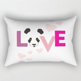 Love Panda Rectangular Pillow
