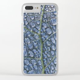 Cool water drops dew texture leaf Clear iPhone Case