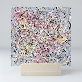Crescendo - Jackson Pollock style abstract drip canvas art by Rasko Mini Art Print