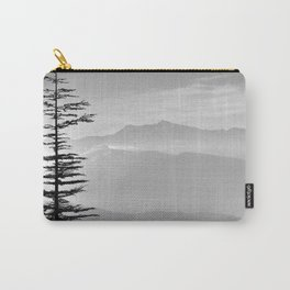 Rainbow clouds at the mountains at sunrise. BW Carry-All Pouch