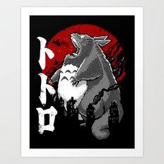 Totorozilla Art Print