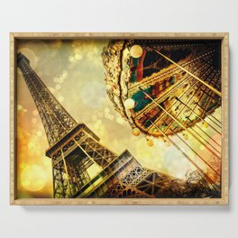 pariS. : Eiffel Tower & Ferris Wheel Serving Tray