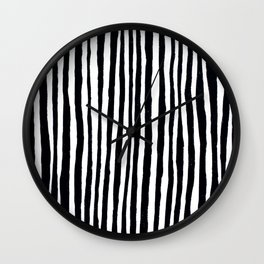 Black Stripes Wall Clock