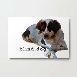 blind dog Metal Print