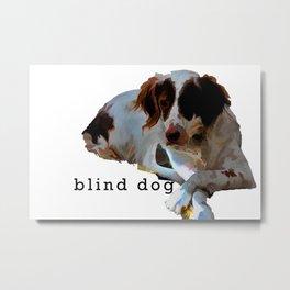 blind dog Metal Print