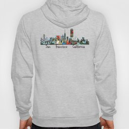 san francisco skyline comic Hoody