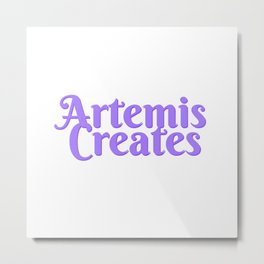 Artemis Creates Main Logo Metal Print