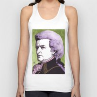 mozart Tank Tops featuring Wolfgang Amadeus Mozart by Joseph Walrave