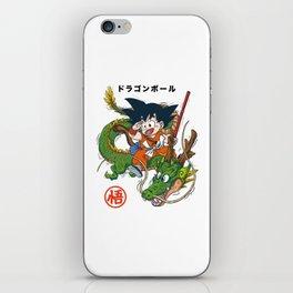 goku and shenron iPhone Skin