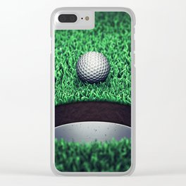 Golfing Clear iPhone Case