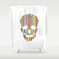 Sʞull Shower Curtain