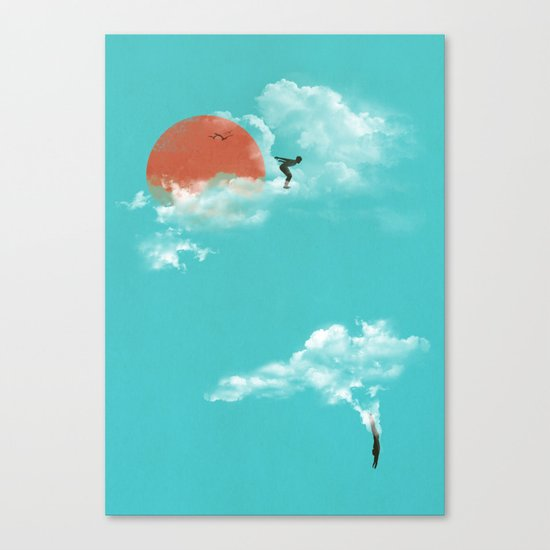 Skydivers (recolor) Canvas Print