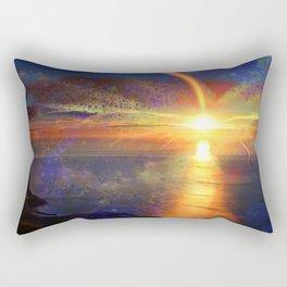 Sunrise on New Earth Rectangular Pillow