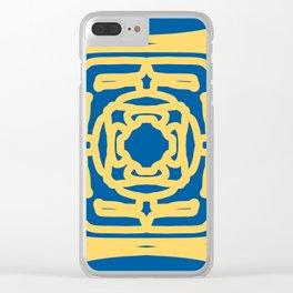 Medallion Princess Blue & Aspen Gold Clear iPhone Case