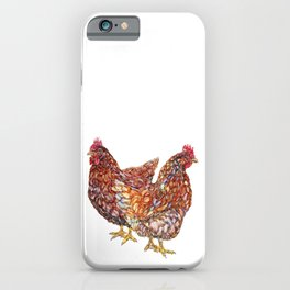 Hazel and Willow - Brown Hens iPhone Case