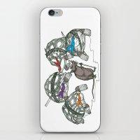 ninja turtles iPhone & iPod Skins featuring Ninja Turtles by Vickn