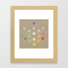 Colour cube (white point) from the Manual of the science of colour by W. Benson, 1871, Remake, vinta Framed Art Print