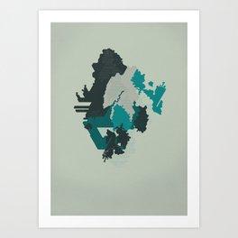 Geometric Mapping #4 • by Secret Peak Art Print