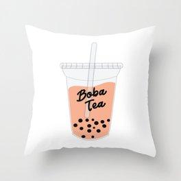 Boba Tea Drink Throw Pillow