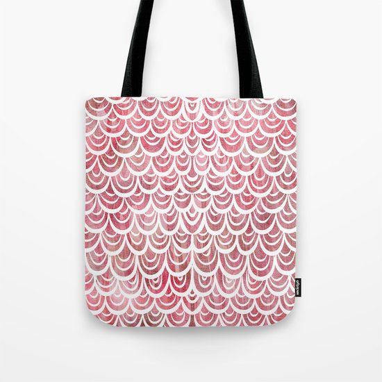 Watercolor Mermaid Rosy Garnet Tote Bag