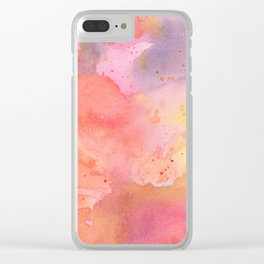 Sunset Color Palette Abstract Watercolor Painting Clear iPhone Case