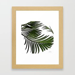 Large Tropical Palm Leaves Framed Art Print