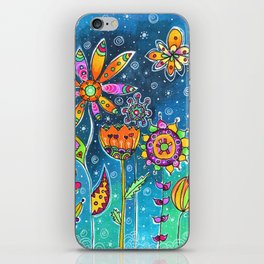 Night Flowers iPhone Skin