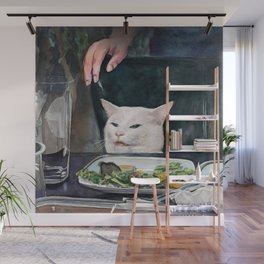 Woman Yelling at Cat Meme-2 Wall Mural