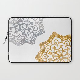 Gold and silver lace floral Laptop Sleeve