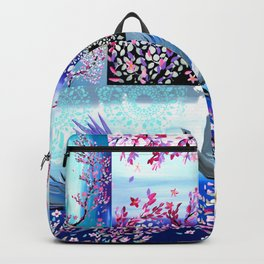 Cherry Blossom Collage Backpack