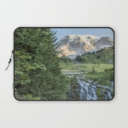 Early Morning at Myrtle Falls Laptop Sleeve