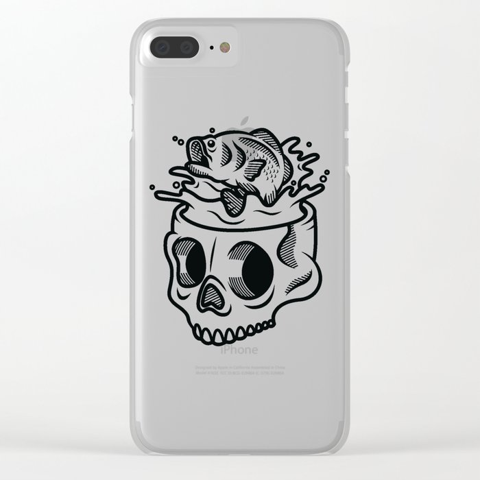 Fish Head I Clear iPhone Case