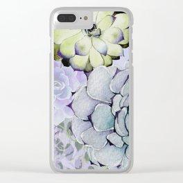 Pekinese Garden Clear iPhone Case