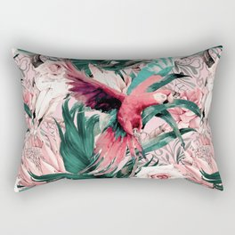 Tropical boho pink pattern Rectangular Pillow