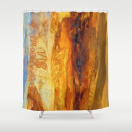Tree Bark Abstract # 9 - Portrait Shower Curtain
