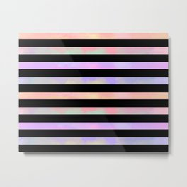 A12 - Colorful and Black Stripes Metal Print