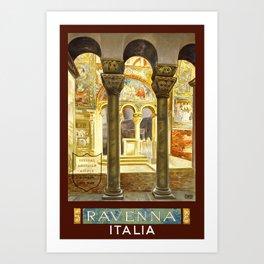 Vintage Ravenna Italy Travel Art Print