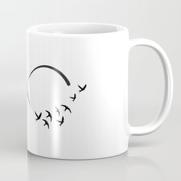 Freedom infinity symbol with swallows Coffee Mug