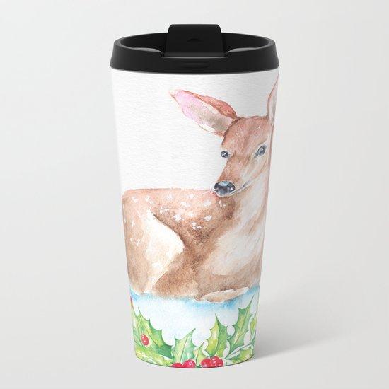 Winter animal #15 Metal Travel Mug