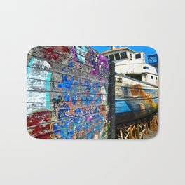 Old Sicilian Port of Alcitrezza Bath Mat