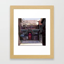 Kyoto Cafe from Red Festival Book Framed Art Print
