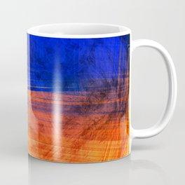 Red Blue Scratch Coffee Mug