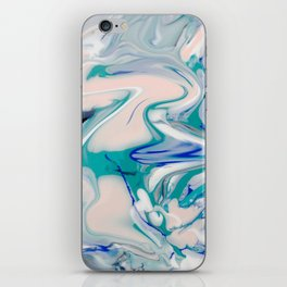 Marble watercolor pastel iPhone Skin