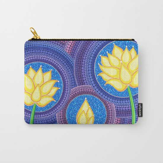 Dreamy Lotus Family Carry-All Pouch