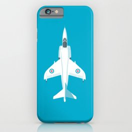 Sea Harrier Jet Aircraft - Cyan iPhone Case