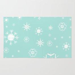 Mint Winter Dream #3 #snowflakes #pattern #decor #art #society6 Rug