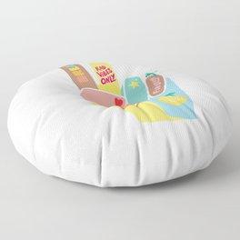 Motivational Peace Fingers Floor Pillow